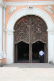 The ornately carved main door of San Agustin Church. It is one of only 4 Baroque churches in the Philippines.