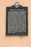 Sign describing the history of the church. It was chosen a UNESCO World Heritage site in 1972.