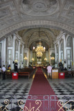 Interior of San Augustin Church. The church interior is in the form of a Latin cross.