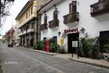 Quaint colonial street next to San Augustin Church.