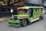 This jeepney had huge bumpers.