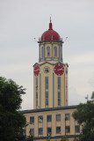 View of the distinctive clock tower of the Manila City Hall, which was designed by Antonio Toledo in the 1930s.
