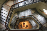 Looking down the stairwell of of the National Museum.