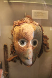 Ancient mask on display at the museum.