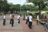 Filipinos getting their afternoon exercise in the park.