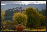 Jakar Dzong : Autumn Wind in Weeping Willow-trees.