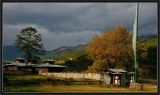 Afternoon light in Wangducholing (Bhumtang district).