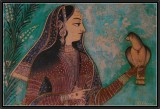 Chitra Shala Fresco  : A Courtesan.