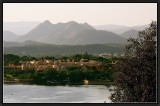 Aravilli Range and Lake Pichola as seen from Udaipur.