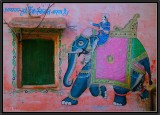 On the Walls of Udaipur.