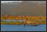 End of afternoon on Inle Lake.