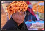 A Saleswoman. Phaung Daw Oo Market.