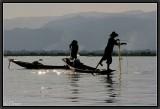 Fishermen's Choreography. Inle Lake.