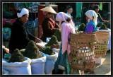 Lahu Choosing Tea on Kengtung Market.