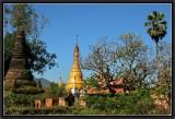 Sankar - Old stupas and Frangipanis.
