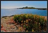 Pointe Trévignon. On the Horizon : Glénan Islands.
