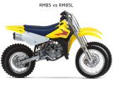 Suzuki RM85L vs RM86