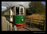 Tram #34 near Crossing, Black Country Museum