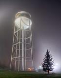 Foggy Night Water Tower 30996-31001