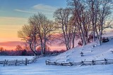 Snowscape At Sunrise 32581