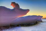 Buckled Ice At Sunrise 20130205