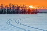 Frozen Lower Rideau Lake Sunrise 20130317