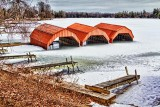 Iced-In Boat Houses 34248