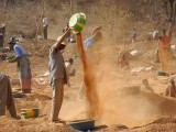Gold mining between Gaoua ond Pô, Centre-Sud Region, Burkina Faso