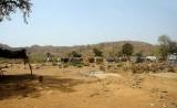 Gold miners´shabby huts at Kassola, near Tiébélé, Centre-Sud Region, Burkina Faso