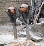 Twin fetishes at Koro (Bobo tribe), Burkina Faso
