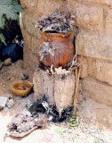 Fétiches du devin et guérisseur Kone Hamadou à Nafona (peuple Gouin), Burkina Faso