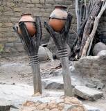 Fétiches jumeaux à Koro (peuple Bobo), Burkina Faso