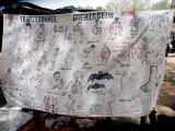 Affiche publicitaire d`un guérisseur traditionnel sur le marché de Toumousseni, Burkina Faso