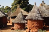 Granaries and huts of Karaboro village Wolokonto, Burkina Faso