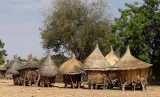 Granaries of a Mossi village near Manega, Burkina Faso