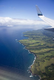 Flying over the west coast of Maui