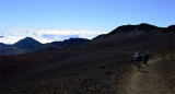 Hiking down Haleakala