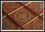 Gilded and Painted Wooden Square-Coffer Ceiling