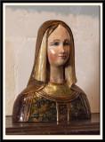 15c Bust of a Lady, Polychrome Wood