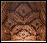 Italian-styled coffered oak ceiling. 1525