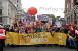 A Future that Works action day protest march in London