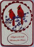 Cardinals Christmas Card