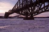 Fleuve Saint-Laurent / Ponts de Québec built in 1917 & Pont Pierre-Laporte 1966 -1970   at  -38°C