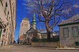 Édifice Price ( built in 1928 - 1931 & ST. Andrew' Church 1759 Erected 1810 Québec