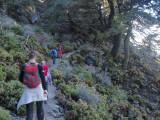 Descendiendo por la Cañada del Cuerno