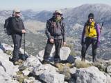 En la cima de la Salamadre y con los Llanos al fondo.