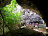 arrivée à la grotte à l'eau claire