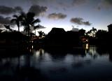 aube sur la piscine