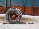 la roue de la remorque