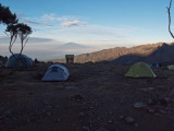 The view from my tent in the morning